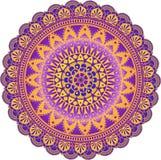Мандала вектора - пурпур и золото стоковая фотография rf