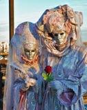 Масленица Венеции, портрет маски, во время венецианской масленицы во всем городе там чудесные маски стоковая фотография