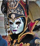 Масленица Венеции, портрет маски, во время венецианской масленицы во всем городе там чудесные маски стоковое изображение rf