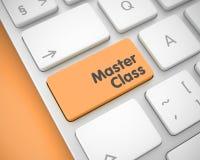 Мастерский класс - надпись на оранжевой клавише на клавиатуре 3d иллюстрация вектора