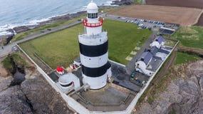 Маяк крюка головной Wexford Ирландия стоковые фотографии rf