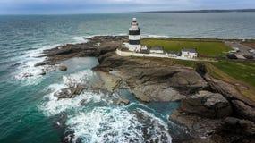 Маяк крюка головной Wexford Ирландия стоковое фото