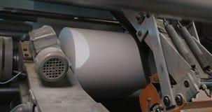 Машина вращения в доме печатания Обработка вторичных источников Бумажный рециркулировать Большое предприятие акции видеоматериалы