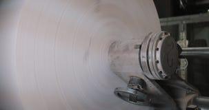Машина вращения в доме печатания Обработка вторичных источников Бумажный рециркулировать Большое предприятие видеоматериал