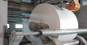 Машина вращения в доме печатания Обработка вторичных источников Бумажный рециркулировать Большое предприятие сток-видео