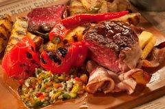 Mexican dinner with pork stock photos
