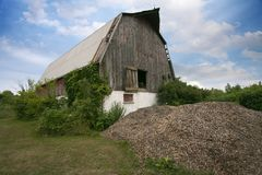Места южное Онтарио Amherstburg разрушали получившийся отказ амбар стоковые фото