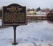 Металлическая пластинка огня Феникса стоковые изображения