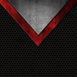 Металлы стиля Grunge на пефорированной предпосылке текстуры бесплатная иллюстрация
