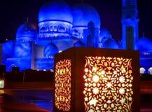 Мечеть на ноче стоковое фото rf