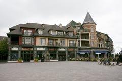 Мертвый сезон полегания достопримечательности горного села 28-ое августа 2007 Collingwood Онтарио Канады сценарный строя голубой стоковое изображение