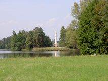 Минарет в зоне Lednice Valtice, чехия стоковые фото