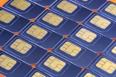 Много карты SIM, номер для всей рамки стоковая фотография