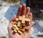 Много кресты в руке стоковые фотографии rf