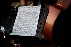 Музыкальный лист следа стоковые изображения rf