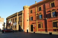Муниципалитет городка Cerveteri в Италии стоковое изображение
