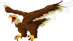 Могущественное летание белоголового орлана в небе иллюстрация вектора