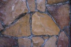 Мозаика из гранитного камня. The granite stones of various colors, mosaic in cement Stock Photos