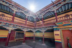 Монастырь Hemis, самые большие и самые популярные монастыри в Ladakh стоковое изображение rf