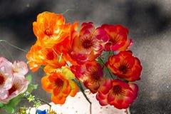 Модернизация красочных лист искусственного цветка украшения роскошная стоковые фото
