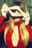 Модная женщина очарования стоковые изображения rf