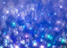 Modern background of colorful shining rays on blue. stock illustration