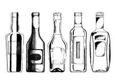 Набор бутылки вина стоковая фотография