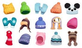 Набор одежды холода бесплатная иллюстрация