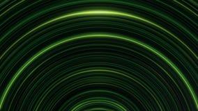 Накалять, дуговидный, линии зеленых линий мерцающие бесконечно Безшовная, loopable анимация абстрактных нашивок света радуги бесплатная иллюстрация