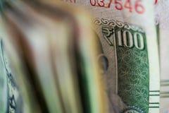 Наличные деньги считая предпосылку вида спереди стоковые фотографии rf