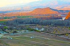 Над комплексом одним Rupite фото от Kozhuh поганит сложную гору Rupite и Pirin стоковое изображение