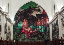 Настенная роспись полного цвета покрасила в библиотеке стоковые изображения rf