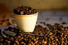 Наркомания кофе и кофеина стоковая фотография rf