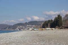 На побережье Чёрного моря стоковая фотография
