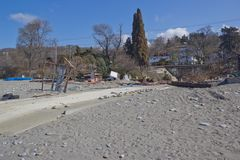 На побережье Чёрного моря стоковое изображение rf