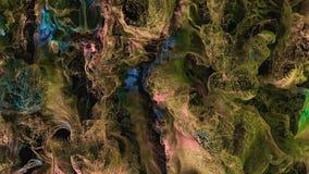 Неимоверный взгляд макроса взрыва порошка краски CG бесплатная иллюстрация