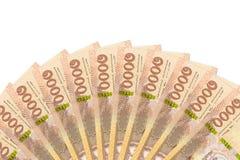 Некоторые новые 1000 банкнот тайского бата с космосом экземпляра стоковые фотографии rf