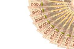 Некоторые новые 1000 банкнот тайского бата с космосом экземпляра стоковое изображение rf