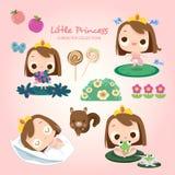 Немногое принцесса Ежедневно Деятельность иллюстрация штока