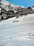 Немногое дом в горах Альп стоковые фото
