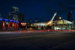 Неоновые вывески Чикаго стоковые изображения rf