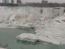 Ниагарский Водопад Онтарио Канада в зиме стоковые фотографии rf