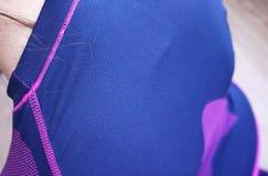 Нижнее белье женщин термальное, красивая ткань, приспосабливает тело и комод стоковое изображение rf