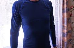 Нижнее белье человека термальное, красивая ткань, приспосабливает тело и комод стоковые фото
