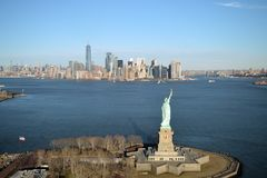 Нью-Йорк - вид с воздуха стоковое изображение