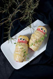 �alloween treat sausage in the dough Stock Photo