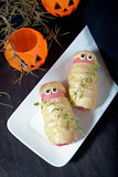 �alloween treat sausage in the dough Stock Images