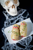 �alloween treat sausage in the dough Royalty Free Stock Photography