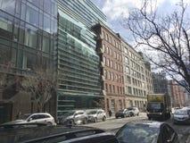 Новый взгляд около Гринвич и улицы весны в NYC стоковое фото