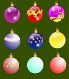 Новый год игрушки на елку New Year`s toys merry happy christmas holiday vector. New Year`s toys stock illustration